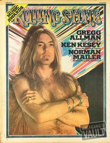 Gregg Allman Rolling Stone Magazine  on 16 Jan 75: Magazine