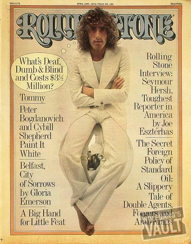 Roger Daltrey Rolling Stone Magazine  on 10 Apr 75: Magazine