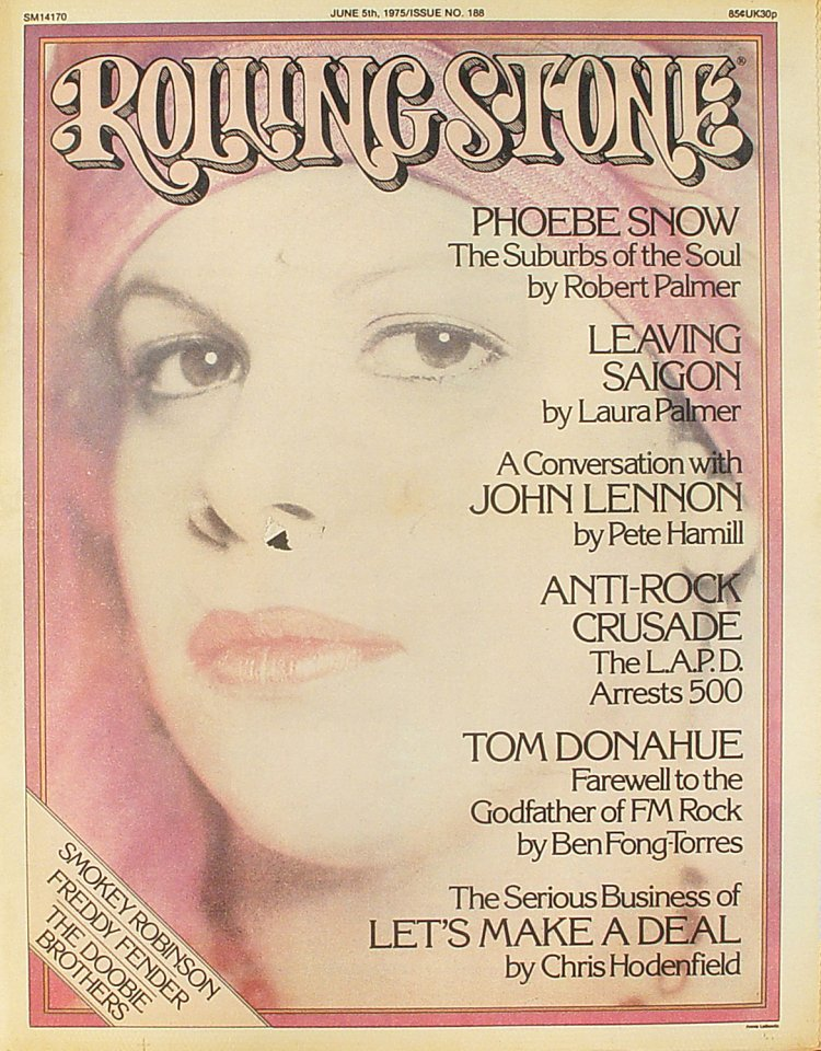 Phoebe Snow Rolling Stone Magazine  on 05 Jun 75: Magazine