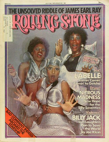 LaBelle Rolling Stone Magazine  on 03 Jul 75: Magazine
