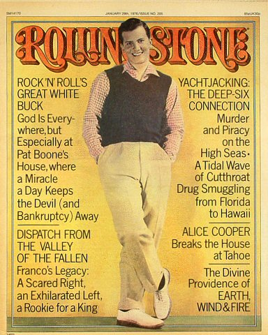 Pat Boone Rolling Stone Magazine  on 29 Jan 76: Magazine