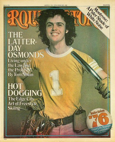 Donny Osmond Rolling Stone Magazine  on 11 Feb 76: Magazine