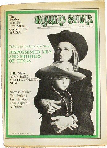 Doug Sahm Rolling Stone Magazine  on 07 Dec 68: Magazine
