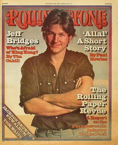 Jeff Bridges Rolling Stone Magazine  on 27 Jan 77: Magazine