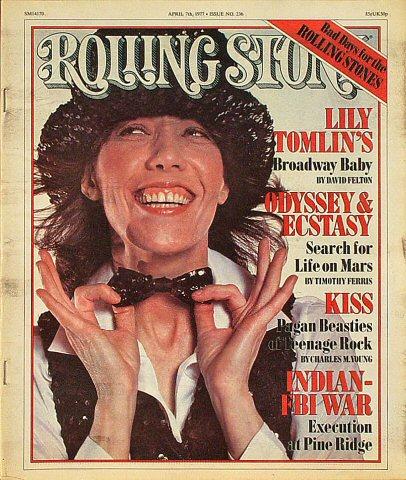 Lily Tomlin Rolling Stone Magazine  on 07 Apr 77: Magazine