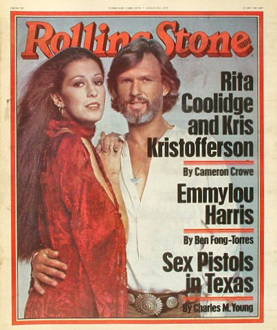 Rita Coolidge Rolling Stone Magazine  on 23 Feb 78: Magazine
