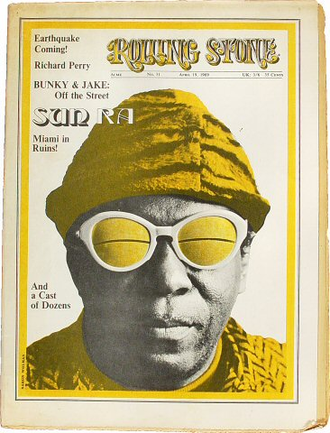 Sun Ra Rolling Stone Magazine  on 19 Apr 69: Magazine