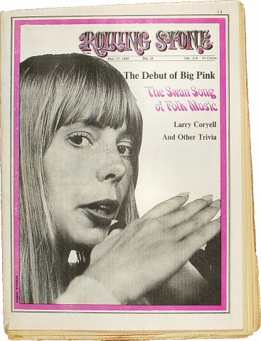 Joni Mitchell Rolling Stone Magazine  on 17 May 69: Magazine