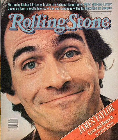James Taylor Rolling Stone Magazine  on 11 Jun 81: Magazine
