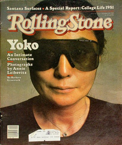 Yoko Ono Rolling Stone Magazine  on 01 Oct 81: Magazine
