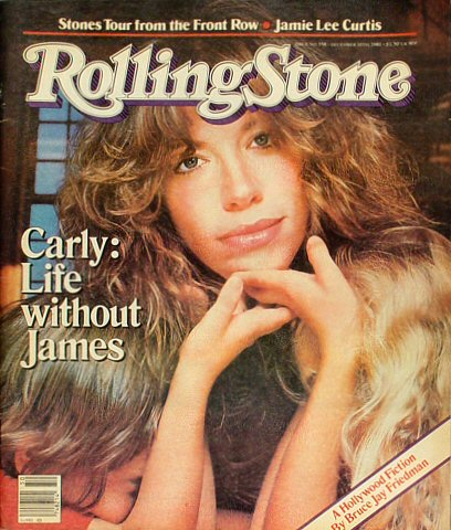 Carly Simon Rolling Stone Magazine  on 10 Dec 81: Magazine