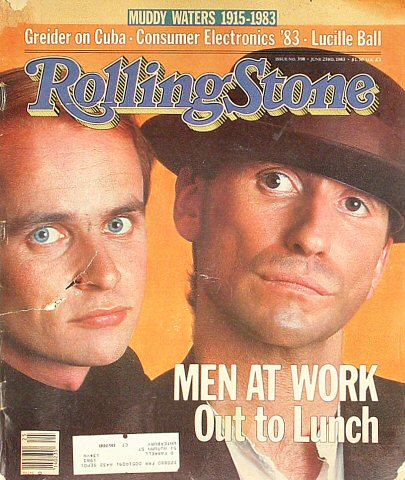 Men at Work Rolling Stone Magazine  on 23 Jun 83: Magazine
