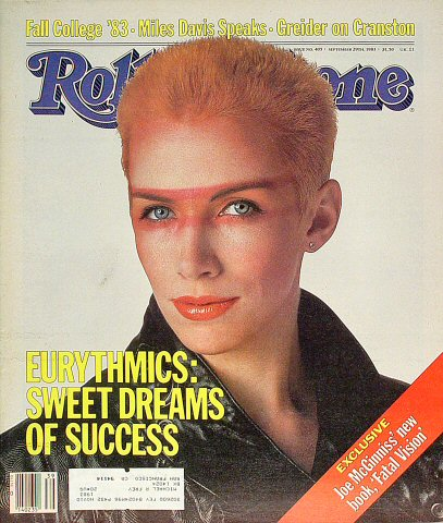 Annie Lennox Rolling Stone Magazine  on 29 Sep 83: Magazine
