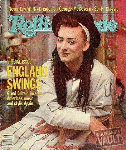 Boy George Rolling Stone Magazine  on 10 Nov 83: Magazine