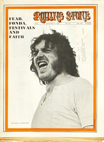 Joe Cocker Rolling Stone Magazine  on 06 Sep 69: Magazine