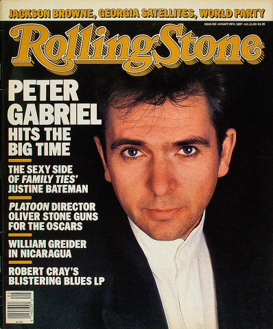 Peter Gabriel Rolling Stone Magazine  on 29 Jan 87: Magazine