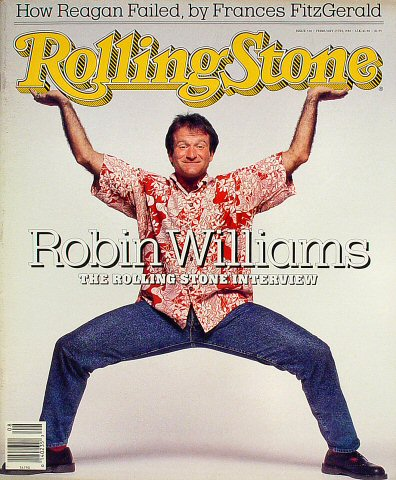 Robin Williams Rolling Stone Magazine  on 25 Feb 88: Magazine