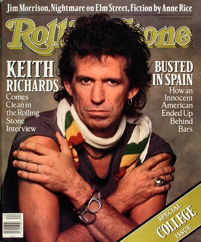 Keith Richards Rolling Stone Magazine  on 06 Oct 88: Magazine
