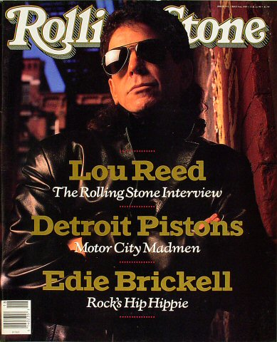 Lou Reed Rolling Stone Magazine  on 04 May 89: Magazine