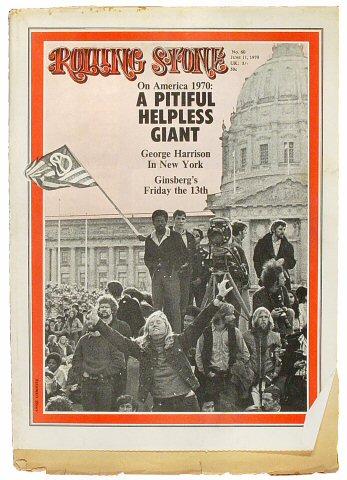 George Harrison Rolling Stone Magazine  on 11 Jun 70: Magazine