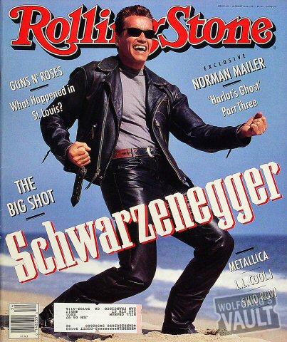 Arnold Schwarzenegger Rolling Stone Magazine  on 22 Aug 91: Magazine