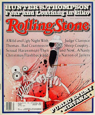 Hunter S. Thompson Rolling Stone Magazine  on 23 Jan 92: Magazine
