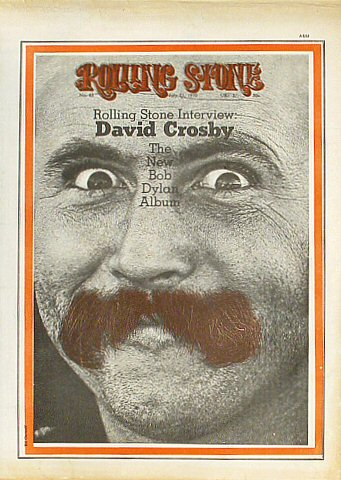 David Crosby Rolling Stone Magazine  on 23 Jul 70: Magazine