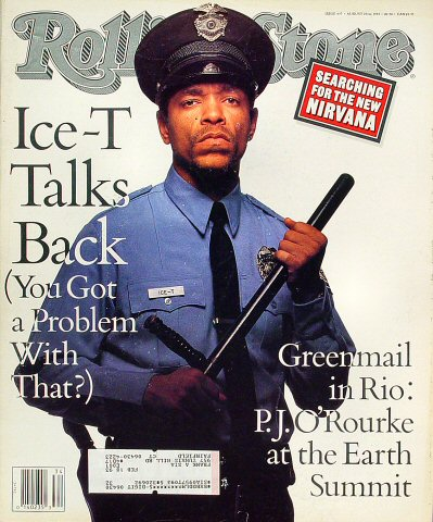 Ice-T Rolling Stone Magazine  on 20 Aug 92: Magazine