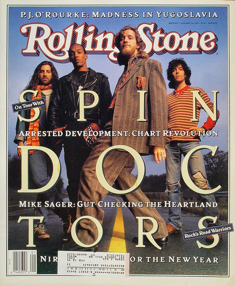 Spin Doctors Rolling Stone Magazine  on 07 Jan 93: Magazine