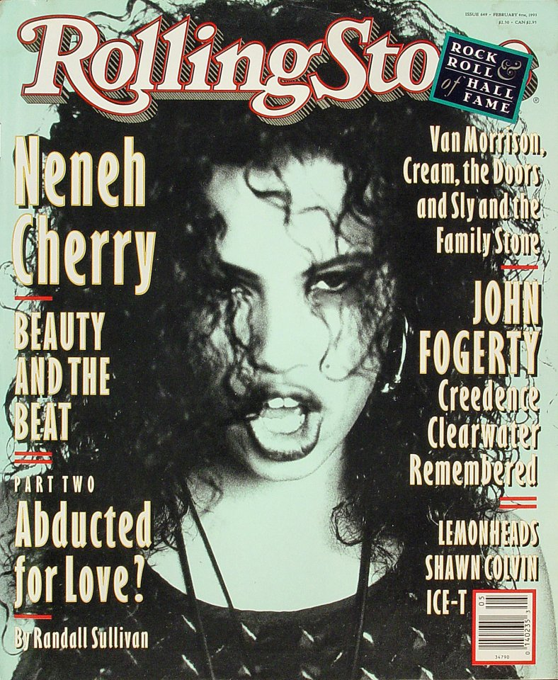 Neneh Cherry Rolling Stone Magazine  on 04 Feb 93: Magazine