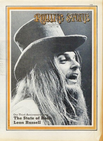 Leon Russell Rolling Stone Magazine  on 10 Dec 70: Magazine