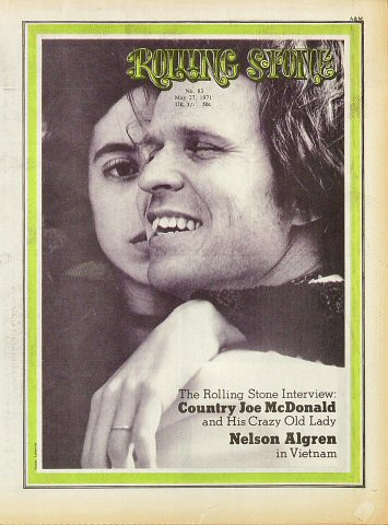 Country Joe McDonald Rolling Stone Magazine  on 27 May 71: Magazine