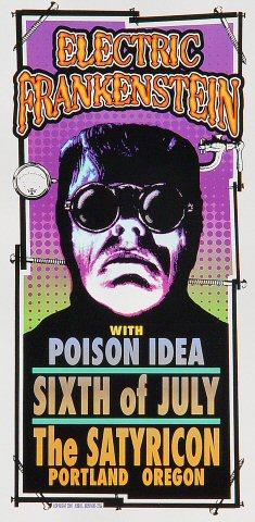 "Electric Frankenstein Handbill from Satyricon on 06 Jul 02: 4 1/4"" x 8 1/2"""
