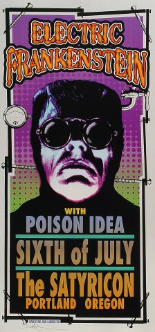 """Electric Frankenstein Poster from Satyricon on 06 Jul 02: 10 1/2"""" x 22 1/4"""""""