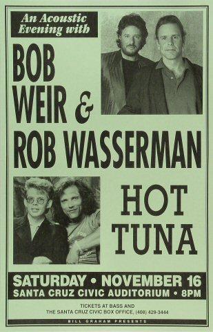 "Bob Weir Poster from Santa Cruz Civic Auditorium on 16 Nov 91: 11"" x 17"""
