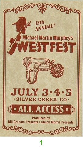 Lyle Lovett Laminate from Silver Creek Resort on 03 Jul 98: Laminate 1