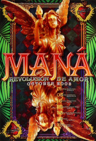 "Mana Poster from San Diego Sports Arena on 01 Oct 03: 13"" x 19"""