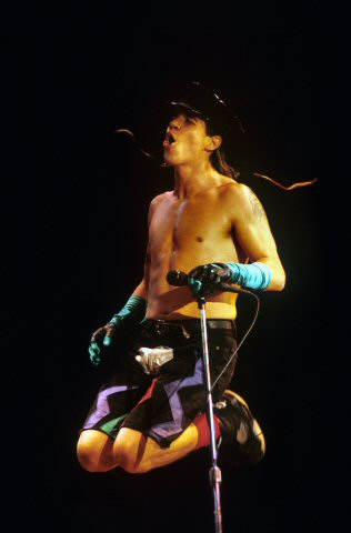 Anthony Kiedis BG Archives Print from San Francisco Civic Auditorium on 31 Dec 90: 16x20 C-Print