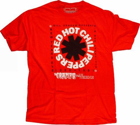 Red Hot Chili Peppers Men's Retro T-Shirt from San Francisco Civic Auditorium on 31 Dec 90: Medium