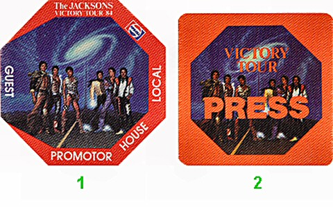 The Jackson 5 Backstage Pass from Shrine Auditorium on 27 Jan 84: Pass 1