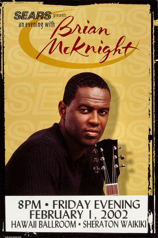 Brian McKnight Poster from Sheraton Waikiki Hotel on 01 Feb 02: 12&quot; x 18&quot;