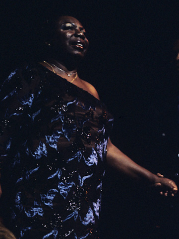 Nina Simone BG Archives Print from Shoreline Amphitheatre on 13 Nov 00: 11x14 C-Print