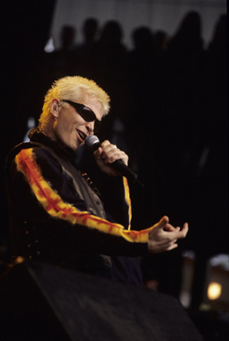 Billy Idol BG Archives Print from Shoreline Amphitheatre on 20 Oct 01: 16x20 C-Print