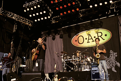 O.A.R. BG Archives Print from Shoreline Amphitheatre on 28 Jul 02: 16x20 C-Print