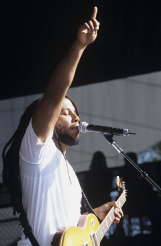 Ziggy Marley BG Archives Print from Shoreline Amphitheatre on 28 Jul 02: 16x20 C-Print