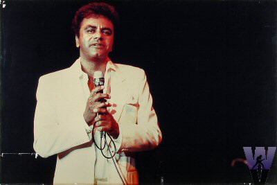 Johnny Mathis Vintage Print from Shoreline Amphitheatre on 27 Sep 86: 20x30 C-Print Mounted