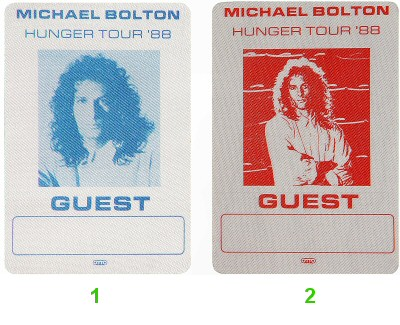 Michael Bolton Backstage Pass from Shoreline Amphitheatre on 04 Jun 88: Pass 2