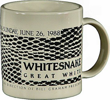 Whitesnake Vintage Mug from Shoreline Amphitheatre on 25 Jun 88: Mug
