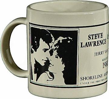 Steve Lawrence Vintage Mug from Shoreline Amphitheatre on 12 Aug 88: Mug
