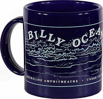 Billy Ocean Vintage Mug from Shoreline Amphitheatre on 13 Aug 88: Mug